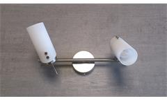 Deckenleuchte 2-flammig Glas Opal matt Strahler Deckenlampe 2x 9 Watt GU 10
