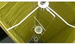 Stehleuchte Papierschirm grün Stehlampe für Leuchtmittel 2x E27Stehleuchte Papierschirm grün Stehlam