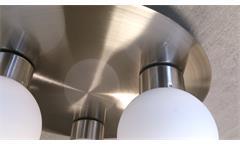 Deckenleuchte LED 3-flammig je 3 Watt Deckenlampe Nickel Opalglas weiß