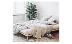 Futonbett Senzi Bettgestell Bett in Kiefer Massivholz natur 140x200 cm Karup
