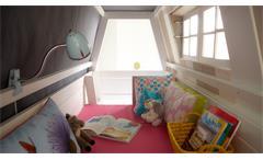 Abenteuerbett My Hangout Kinderbett Etagenbett Kiefer massiv in whitewash