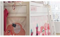 Hochbett Little Princess Kinderbett Spielbett mit Spielvorhang in Kiefer massiv