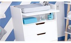 Wickelkommode Life Time Wickeltisch in Birke und weiß umbaubar zum Schreibtisch