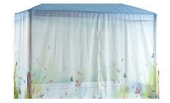 Himmelbett Butterfly Love Kinderbett Spielbett mit Himmel in Kiefer whitewash