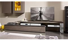 Unterteil MEDIA 3000 TV-Board in Sahara Lack Hochglanz