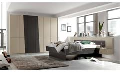 Schlafzimmer SLASH in Lack Sahara und Schiefer grau