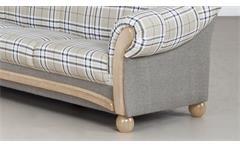 Sofa Arkus 3-Sitzer Couch Sofagarnitur in grau beige und Eiche Sonoma 215 cm
