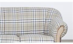 Sofa Arkus 2-Sitzer Couch Sofagarnitur in grau beige und Eiche Sonoma 156 cm