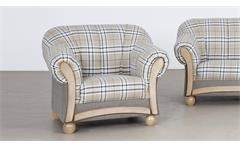 Sessel Arkus Fernsehsessel Relaxsessel in grau beige und Eiche Sonoma 93 cm