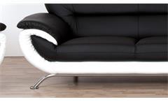 Sofa Evita 3-Sitzer Bezug in schwarz und weiß inkl. Nosagfederung Länge 205 cm
