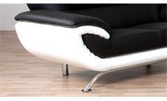 Sofa Evita 2-Sitzer Bezug in schwarz und weiß inkl. Nosagfederung Länge 165 cm