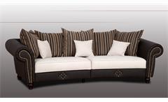 Big Sofa Santana in dunkelbraun und beige inkl. Nosagfederung und Kissen 272 cm