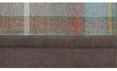Wohnlandschaft Hugo Bezug Stoff stone braun grau mit Armteilverstellung 360x185