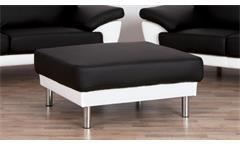 Sofagarnitur Gino 3-2-Hocker Garnitur Bezug in schwarz weiß inkl. Nosagfederung