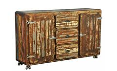 Sideboard 1 Fifty Style Anrichte Kommode recyceltes Massivholz mehrfarbig