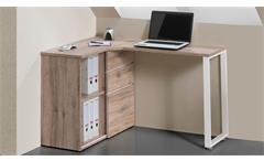 Computertisch Maja 4057 Schreibtisch PC-Tisch Bürotisch Tisch in Wildeiche weiß