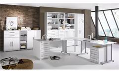 Büroprogramm Maja System 1208 Büro-Set Büroeinrichtung in weiß Hochglanz