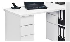Mini Office Maja 9562 Schreibtischkombi Regal Schreibtisch in weiß Hochglanz