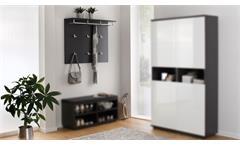 Garderobenpaneel Garderobe Wandpaneel Flurmöbel in anthrazit Alea 105x83 cm