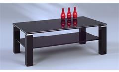 Couchtisch Juri Beistelltisch Wohnzimmertisch schwarz Hochglanz Aluminium