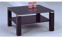 Couchtisch Juri Beistelltisch Wohnzimmertisch schwarz Hochglanz Aluminium 78x78