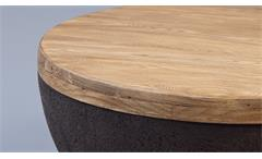 Couchtisch Melia Witterungs-UV-beständig Holzoptik Beistelltisch Indoor Outdoor