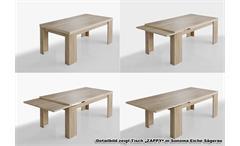 Tischgruppe Big Zip Esszimmer Tisch Bank Hocker Wildeiche Trüffel 160-260 cm