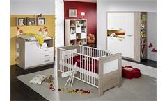 Babyzimmer MORITZ Sonoma Eiche sägerau und weiß matt