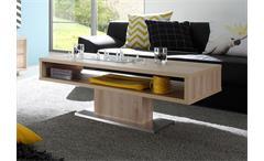Couchtisch Sven Beistelltisch Tisch in Edelbuche und Edelstahl 110x60 cm