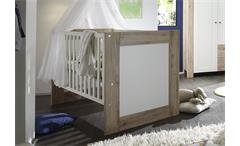 Babybett LUPO Kinderbett San Remo hell und weiß matt