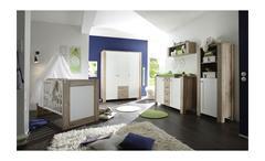 Babybett Lupo Kinderbett Sprossenbett San Remo hell und weiß matt 70x140
