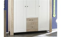 Kleiderschrank Lupo Schrank Kinderzimmerschrank San Remo hell weiß matt 150