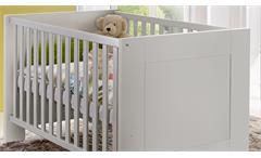 Babybett Bella Kinderbett Kinderzimmer weiß matt 140x70 cm