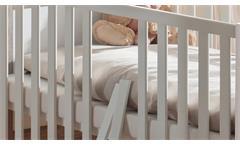 Babybett Bella Gitterbett Kinderbett Babyzimmer weiß matt 140x70 cm