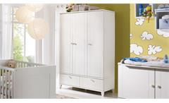 Kleiderschrank BELLA Schrank 3-türig in weiß matt Babyzimmer