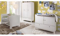 Babyzimmer BELLA Babymöbel Set in weiß matt 3-teilig