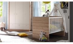Babybett Sven Kinderzimmer Kinderbett zum Juniorbett umbaubar Edelbuche 140x70cm