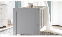Babybett Dandy Kinderzimmer Kinderbett zum Juniorbett umbaubar Pinie weiß 140x70