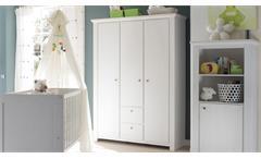 Kleiderschrank Dandy Schrank Kinder Babyzimmer Anderson Pine weiß matt 3-türig