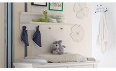 Hängeregal Dandy Babyzimmer Wandregal Regal Anderson Pine weiß 4 Haken 80x27 cm