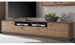 TV-Lowboard Salinas Stirling Eiche schwarz Wohnzimmer Schrank Kommode 238 cm