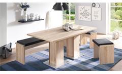 Tisch Table Dance A2 Esstisch Esszimmertisch in Eiche sägerau ausziehbar 160-210