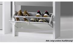 Schuhkipper Big Schuhschrank Schuhregal Beton Spiegel mit 4 Klappen für 24 Paar