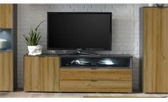 Lowboard Dallas TV-Board in anthrazit grandson oak 177cm