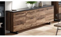 Sideboard Castell 2.0 Anrichte in plankeneiche und anthrazit Wohnzimmer