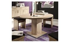 Esstisch Prowler Küchentisch Tisch rund Eiche sanremo Synchronauszug 120-160 cm