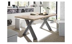 Esstisch Mister X Esszimmertisch Tisch Tischsystem graphit sandeiche 180x90 cm