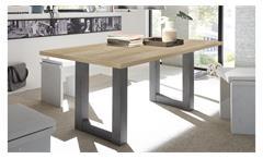 Esstisch The Big Tischsystem Esszimmertisch Grandson Eiche und graphit 160x90 cm