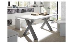 Esstisch Mister X Esszimmertisch Tisch Tischsystem graphit weiß Lack 180x90 cm