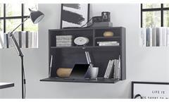 Hängeschrank OFFICE PLUS flamed wood black Sekretär 80 cm